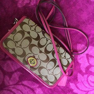 New never used coach mini purse